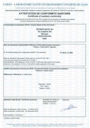 сертификат санитарного соответствия